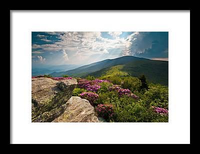 North Carolina Mountains Framed Prints