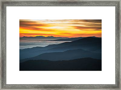 Roan Mountain Sunrise Framed Print by Serge Skiba