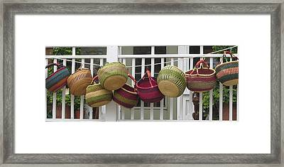 Framed Print featuring the photograph Roanoke Baskets by Cathy Lindsey