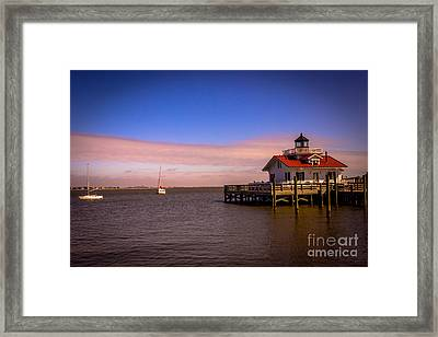 Roanoke Lighthouse Framed Print by Tom Gari Gallery-Three-Photography