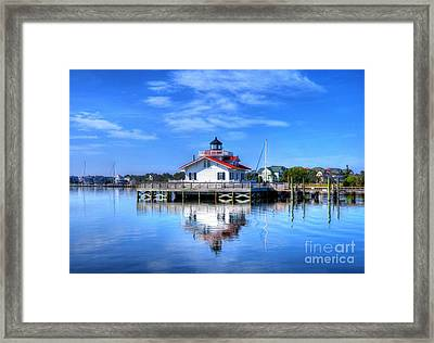 Roanoke Marshes Light 3 Framed Print