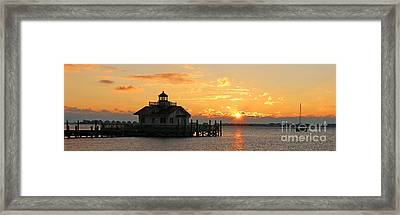 Roanoke Marshes Lighthouse 3209 Framed Print by Jack Schultz