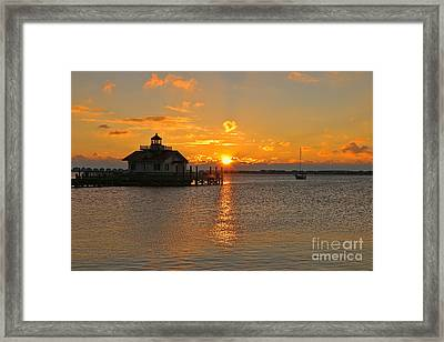 Roanoke Marshes Lighthouse 3210 Framed Print by Jack Schultz