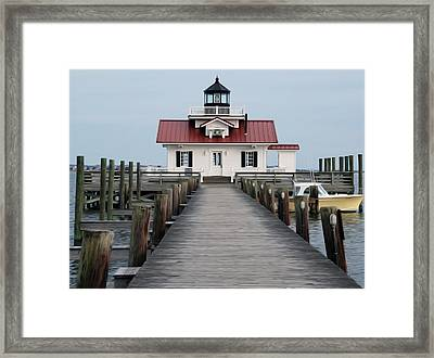 Framed Print featuring the digital art Roanoke Marshes Lighthouse by Kelvin Booker