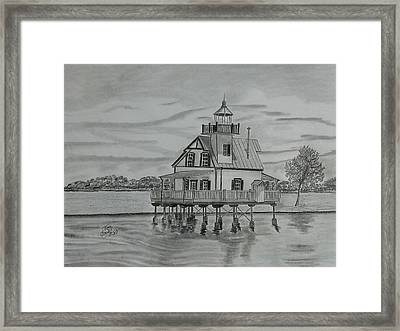 Roanoke River Lighthouse Framed Print