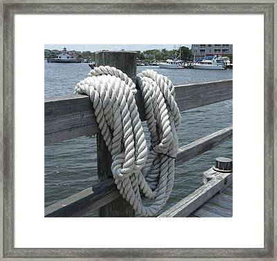 Framed Print featuring the photograph Roanoke Rope by Cathy Lindsey