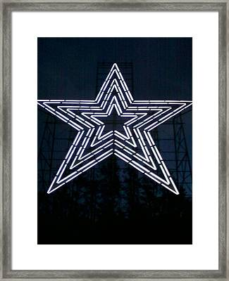 Roanoke Star By Angelia Clay Framed Print by Angelia Hodges Clay