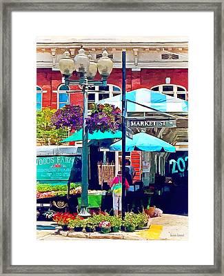 Roanoke Va - Market Street Framed Print by Susan Savad