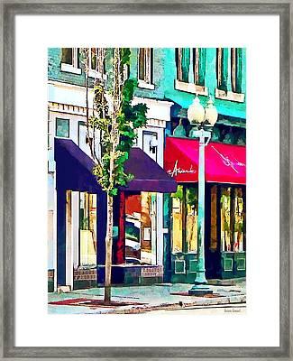 Roanoke Va Street With Restaurant Framed Print