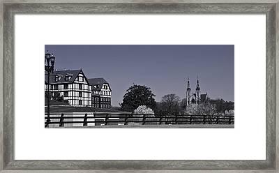 Roanoke Virginia Springtime Cityscape Bw Framed Print