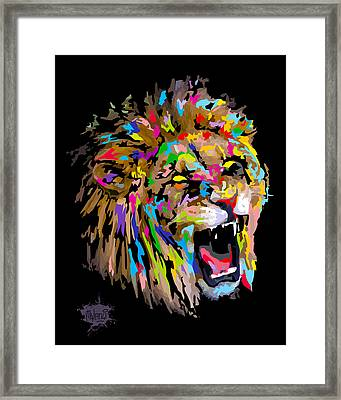 Framed Print featuring the digital art Roar by Anthony Mwangi