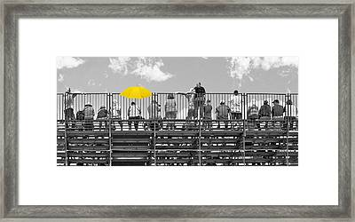 Roar Of The Crowd Framed Print by Kitty Ellis