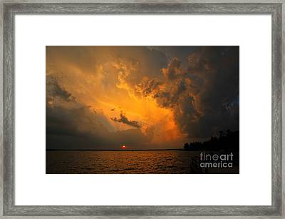 Framed Print featuring the photograph Roar Of The Heavens by Terri Gostola