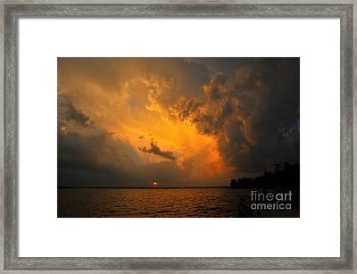 Roar Of The Heavens Framed Print by Terri Gostola