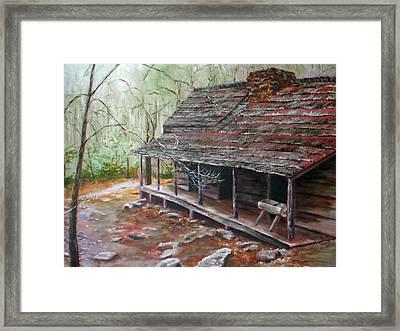 Roaring Fork Cabin Framed Print by Sherry Robinson
