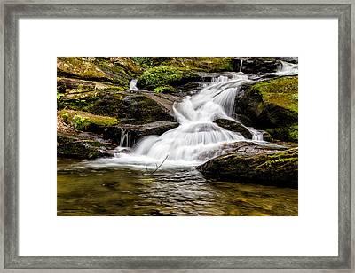 Roaring Fork Falls 04 Detail Framed Print