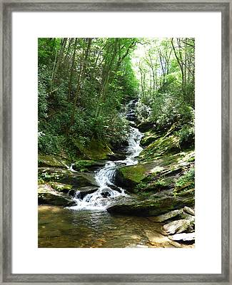 Roaring Fork Falls - June 2014 Framed Print by Joel Deutsch