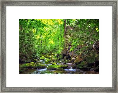 Roaring Fork Mill Framed Print by Carolyn Derstine