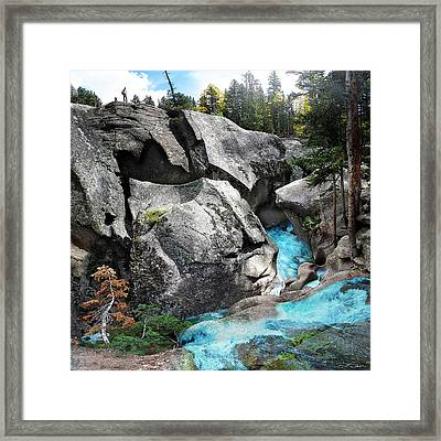 Roaring Fork Framed Print by Ric Soulen