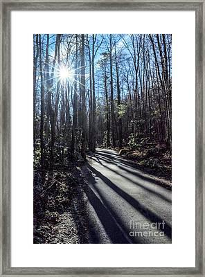 Roaring Fork Road Framed Print by Debbie Green