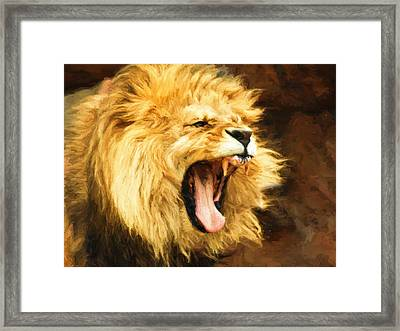 Roaring Lion Framed Print
