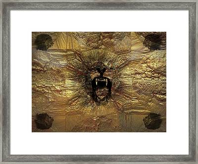 Roaring Lion Framed Print by Nafets Nuarb
