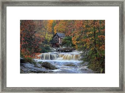 Roaring Past The Mill Framed Print by Daniel Behm