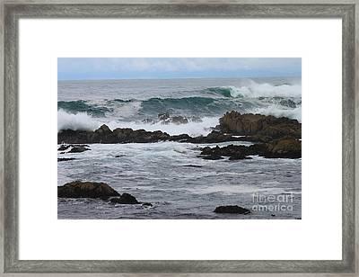 Roaring Sea Framed Print by Bev Conover