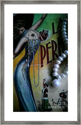 Roaring Twenties Elegance And Pearls Framed Print
