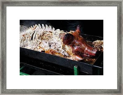 Roast Hog Framed Print by Victor De Schwanberg