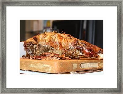 Roast Lamb Framed Print by Ash Sharesomephotos