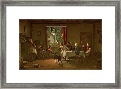 Roast Pig, 1862 Framed Print by Thomas Webster