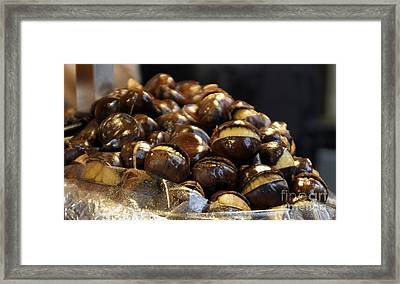 Framed Print featuring the photograph Roasted Chestnuts by Lilliana Mendez