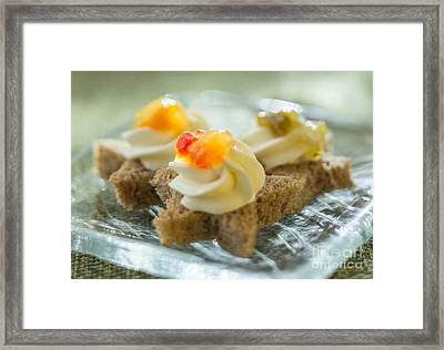 Roasted Pepper Jelly Stars Close-up Framed Print by Iris Richardson