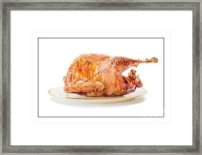 Roasted Turkey Dinner Framed Print by Edward Fielding