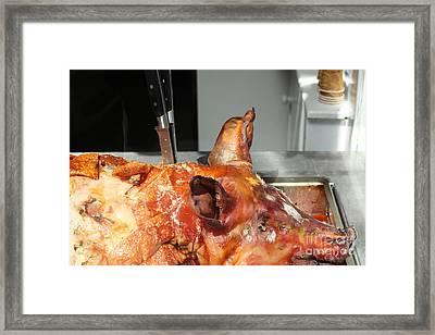 Roasted Whole Pork Framed Print by Patricia Hofmeester