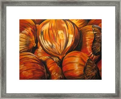 Roasting Chestnuts Framed Print