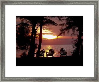 Roatan Sunrise Framed Print