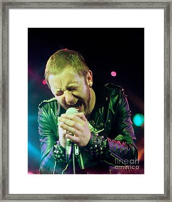 Rob Halford Of Judas Priest Without Flames Effect- Warfield Theater During British Steel-unreleased  Framed Print