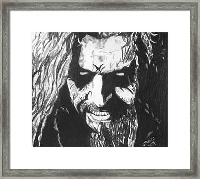Rob Zombie Framed Print by Jeremy Moore