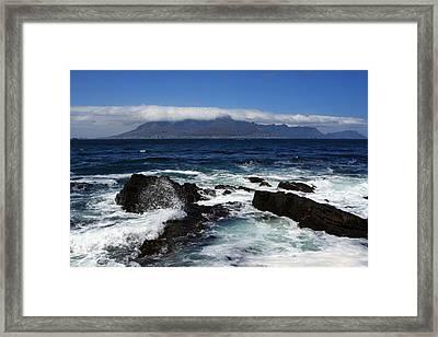 Robben Island View Framed Print by Aidan Moran