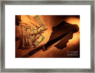 Robbery Framed Print by Olivier Le Queinec