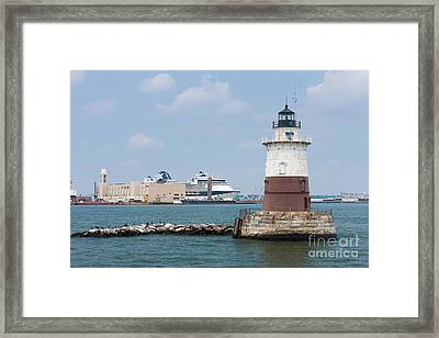 Robbins Reef Light II Framed Print by Clarence Holmes