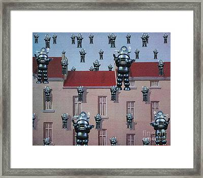 Framed Print featuring the digital art Robby Reigns by Sasha Keen