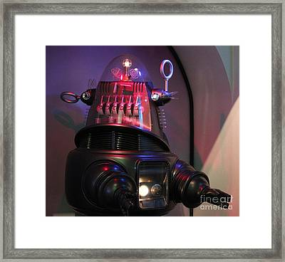 Framed Print featuring the photograph Robby The Robot 1956 by Cynthia Snyder