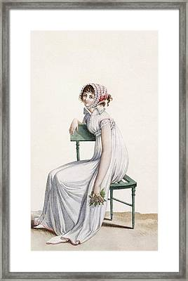 Robe Chemise, Illustration From Journal Framed Print by Pierre de La Mesangere
