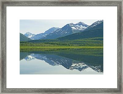 Framed Print featuring the photograph Robe Lake by Nick  Boren