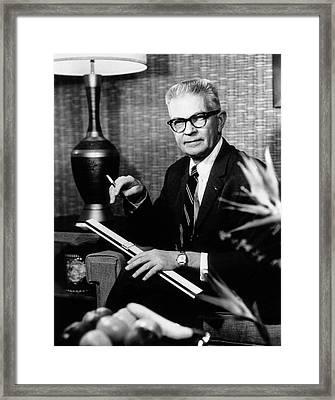 Robert Allan Phillips Framed Print by National Library Of Medicine
