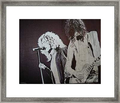 Robert And Jimmy Framed Print
