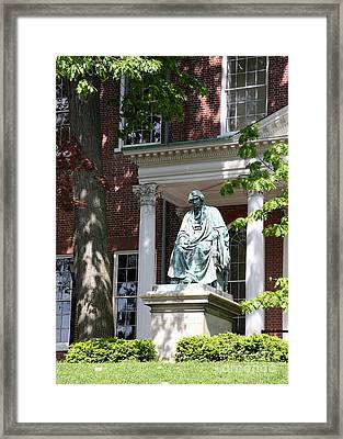 Robert Brooke Taney Statue - Maryland State House  Framed Print by Christiane Schulze Art And Photography